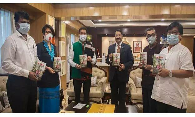 "Arunachal Pradesh Chief Minister Pema Khandu released a book titled Tangams ""EMPOWER IAS"""